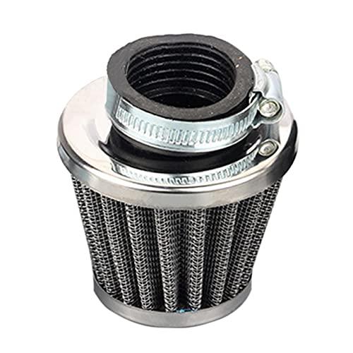 GeKLok Filtro de aire para motocicleta, filtro de aire de malla de acero de doble capa, 45 mm, kit de filtro de admisión de aire para motocicleta, filtro de malla de suciedad
