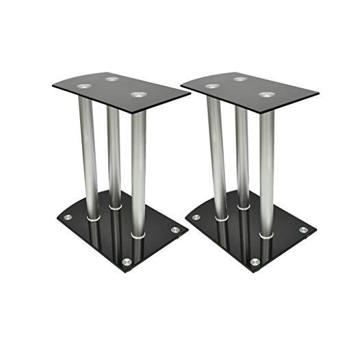 vidaXL Piedistalli per casse staffe casse diffusori vetro alluminio
