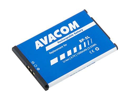Batteria per cellulare Nokia 9500, E61 Li-Ion 3, 7 V, 1500 mAh (ricambio BP-5L)