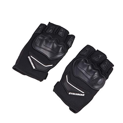 BESPORTBLE Fahrradschutzhandschuhe Stoßfeste Atmungsaktive Sporthandschuhe mit Halbfingerhandschuhen für Männer Frauen (Schwarz Größe L)