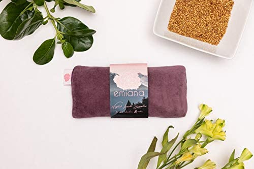 emiana Weighted Eye Pillow Scented Lavender Eye Pillow with Removable Strap Velvet Satin Silk product image