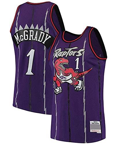 XFKL Tracy McGrady Jersey # 1# 15 Retro NBA Jersey Toronto Raptors Camiseta De Baloncesto Sin Mangas Ropa Deportiva De Entrenamiento,A2,L