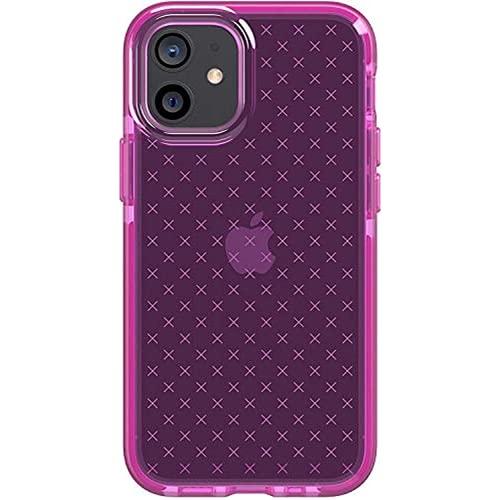 Odnryx Tech21 EVO Check for Apple iPhone 12 Pro MAX 5G Tiene una Caja de teléfonos móviles antimicrobianos de Germen antimicrobiana de Germen de Germen de germinación de 36 Metros, Medianoche