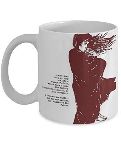 N\A Cuento de la Criada Cita literaria Taza de café Taza de té Cita Divertida Idea de Regalo para él o Ella Mujeres y Madre Día del Padre Hermana Hermano Padre