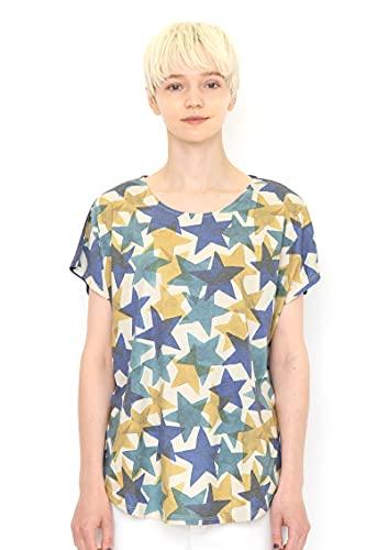 (グラニフ) graniph ラウンドネック Box Tシャツ/ドローイングスター (ライトベージュ) レディース Lady(F)...