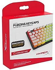 أغطية مفاتيح هايبر اكس بودينج - مجموعة مفاتيح كاملة - PBT - تصميم انجليزي (أمريكي) HKCPXP-WT-US/G