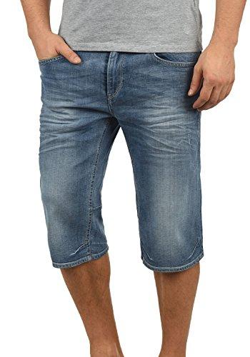 Blend Denon Herren Jeans Shorts Kurze Denim Hose Aus Stretch-Material Regular Fit, Größe:L, Farbe:Denim Lightblue (76200)