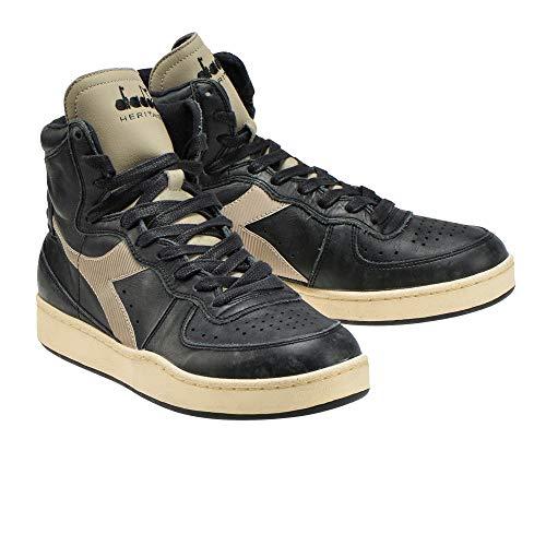 Diadora Heritage Scarpa Sneaker Unisex Mi Basket Used Nero - 40