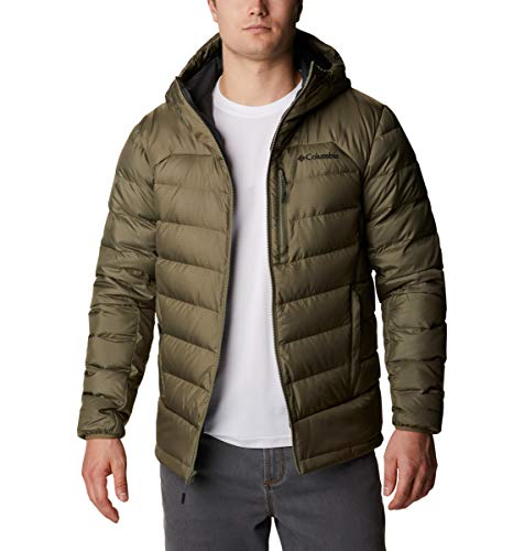 Columbia Men's Autumn Park Down Hooded Jacket, Stone Green, Large