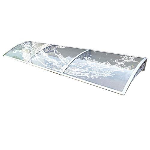Tejadillo Marquesina Techo, Mudo Cubierta de Ventana de Lluvia y Nieve 2,5 mm Arco Marquesina de jardín Profundidad 60cm /75cm /80cm /100cm (Color : A, Size : 60x150cm)