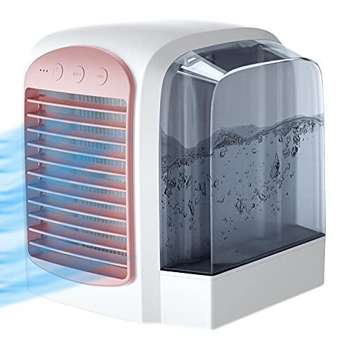 Aire Acondicionado Portátil Refrigerado Por Agua, Aire Acondicionado Evaporativo De Luz Nocturna De 3 Velocidades Refrigerador De Aire Personal De Oficina De 350 Ml Mini Refrigerador De Aire USB