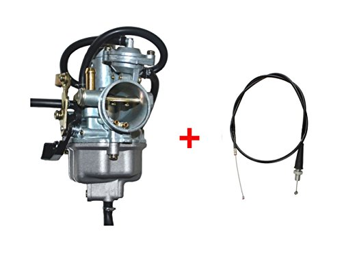 Auto-Moto Carburetor with Throttle Cable for HONDA Recon 250 TRX250 TRX250TM TRX250TE (Fits: 2000 Honda Recon 250)