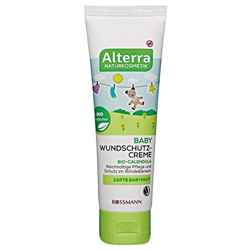 Alterra Baby Wundschutz-Creme 75 ml für zarte Babyhaut, mit Bio-Calendula & Bio-Sheabutter, reichhaltige Pflege & Schutz im Windelbereich, zertifizierte Naturkosmetik