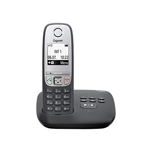Gigaset A415A - Teléfono inalámbrico DECT, 50 m, 300 m, 100 entradas, Negro [En alemán]