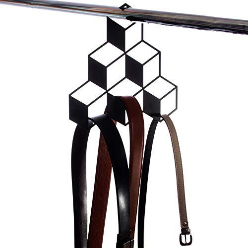 Artori Design Pots 3D Cube étagère Armoire en métal Noir - 6 Cubes
