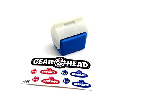 Gear Head RC 1/10 Scale Miniature Small Ice Chest - Blue