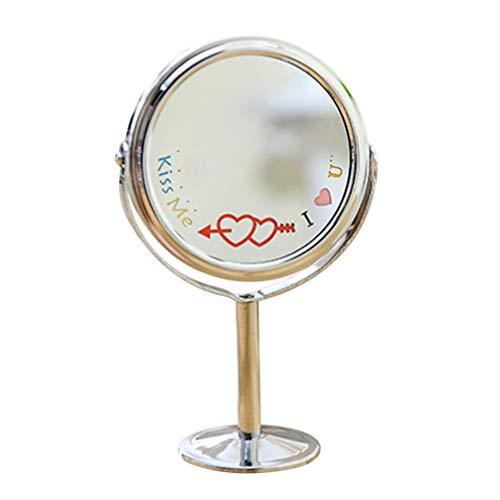 Beaupretty Miroir de Maquillage Miroir Grossissant Double Face Rotation à 360 Degrés pour Table de Bureau (Couleur Aléatoire)