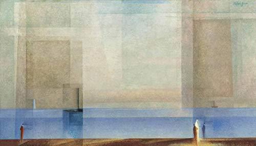 Berkin Arts Lyonel Feininger Giclee Auf Leinwand drucken-Berühmte Gemälde Kunst Poster-Reproduktion Wand Dekoration(Ruhe auf See Ii) Große größe 80 x 46cm