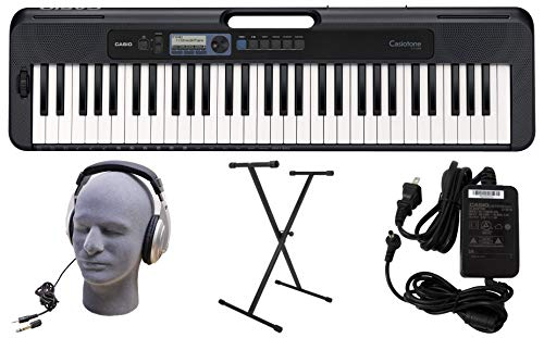 Casio CT-S300 61-Key Premium Keyboard Pack with Stand, Headphones & Power Supply (CAS CTS300 PPK)