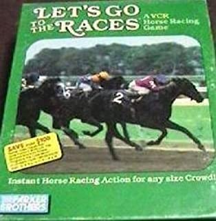 Parker Brothers Lets Go to The Races VCR Horse Racing Game