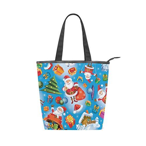Taza de correa ligera para mujeres Niñas Damas Bolsa de mano para estudiantes Bolsos Bolsas Árbol de Navidad Bolas de regalo de Papá Noel Bolsos de hombro Monedero Compras