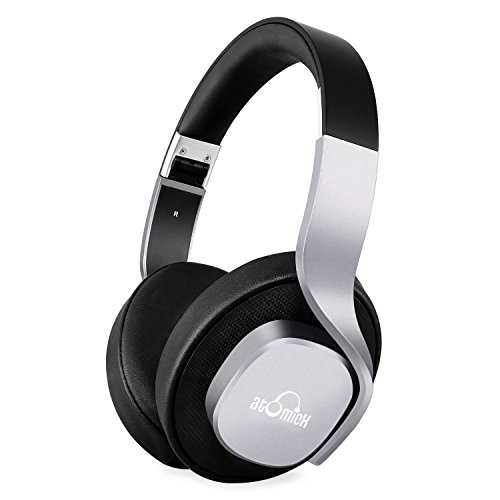 Wireless Headphones, iDeaUSA Bluetooth Headphones Stereo Mega Bass Over Ear Headphones Foldable and Lightweight 25 Hours Music Playback Built in Mic for TV, Air Travel - Black/Silver