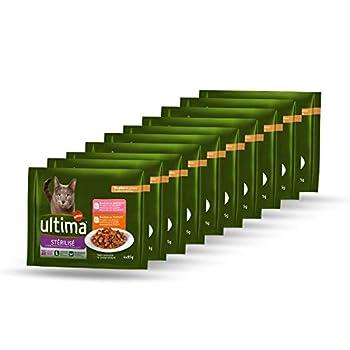 Ultima Nourriture Humide pour Chats Stérilisés - 10 multipacks de 4 x 85 g - Total: 3,4 kg