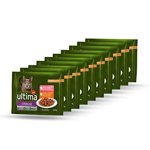 Ultima Comida Húmeda para Gato Esterilizados - Paquete de 10 x 340 gr - Total: 3400 gr