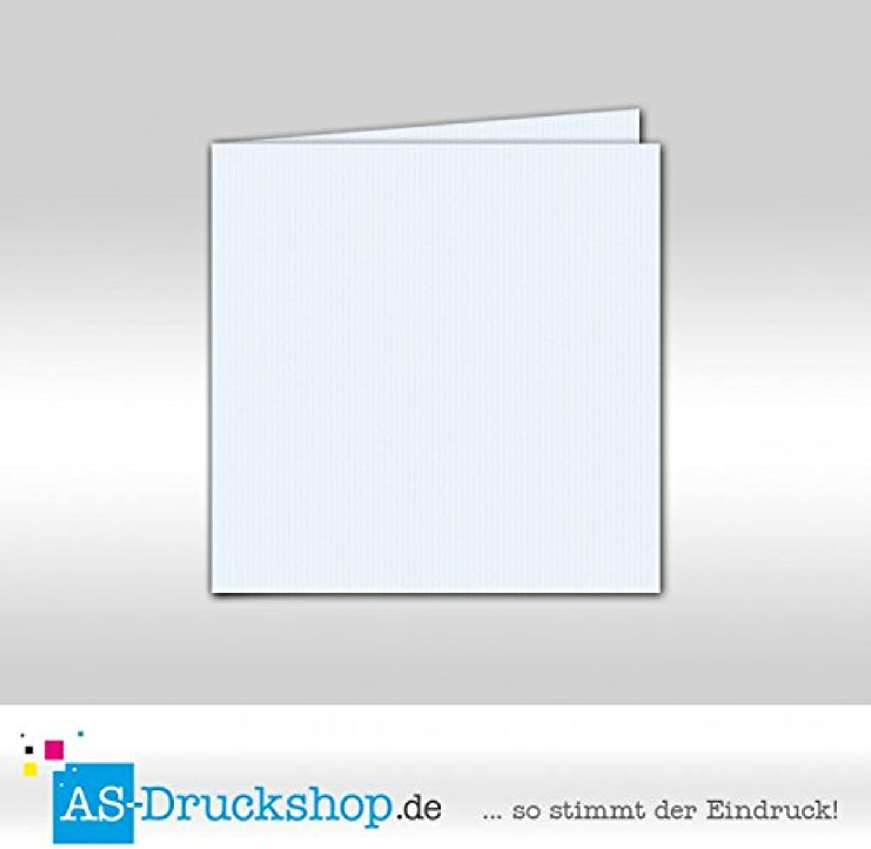 Faltkarte   Doppelkarte - Hellblau   100 Stück   Quadratisch 155 x 155 mm B0794X21QZ   Mode-Muster