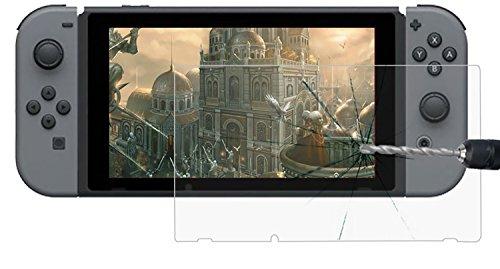 Movoja Switch 9H Bildschirm-Schutz-Glas Bildschirmschutz | Kristallklare Folie | Blasenfreier Bruchfester Splitterschutz | Screen- Protector | gehärtetes Glas | Langzeit Schutzfolie | Dünne Kratzfeste