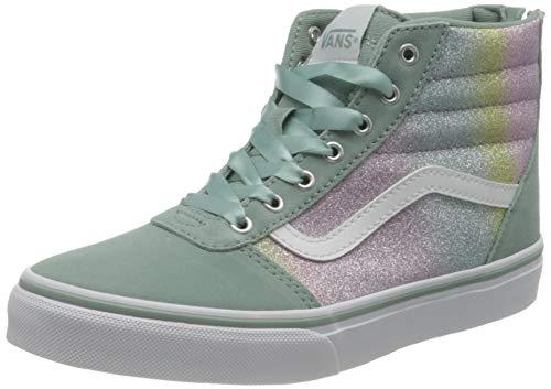Vans Mädchen Ward Hi Suede/Canvas Sneaker, (Rainbow Glitter) Blue Surf, 34 EU