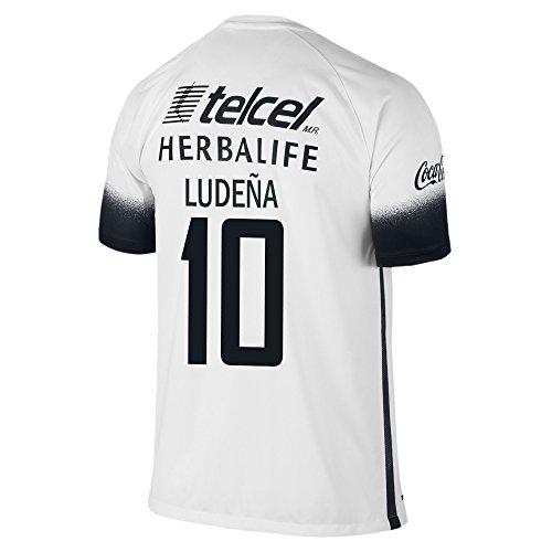 Nike Ludeña #10 Pumas UNAM 2016 Stadium Third Jersey Youth. (YS) White, Black