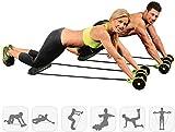 Rodillo Gimnasio Abdominal Abs Rodillo Cintura Rueda Mango Máquina de entrenamiento Fitness ,...