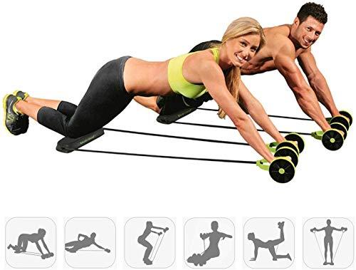 Rodillo Gimnasio Abdominal Abs Rodillo Cintura Rueda Mango Máquina de entrenamiento Fitness , Rueda de músculos abdominales del hogar Rueda de ejercicios Rodillo mudo Cuerda