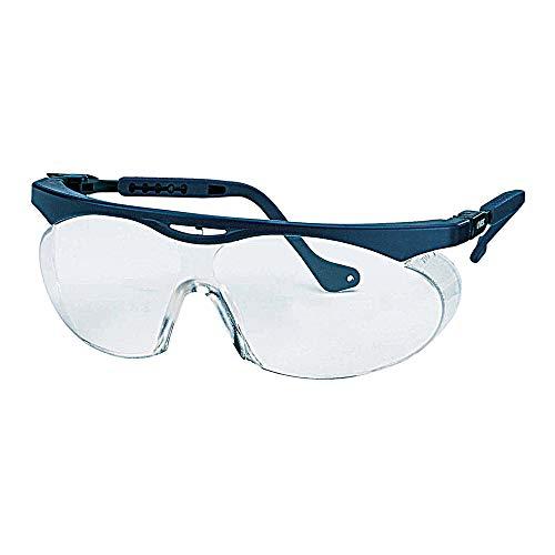 Uvex W09101 Skyper 9195 Schutzbrille für Herren, Kratzfest, Chemikalienbeständig, Antihaft, Easy to Clean, 2-1,2, Klar/Blau, 5 Stück
