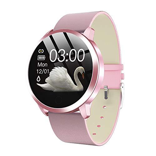 Smart Watch OLED Smartwatch Moda De Mujer Fitness Tracker Pink Q8 Plus Pulsera Life ELECTRÓNICA A Prueba De Agua Totalmente Compatible,A