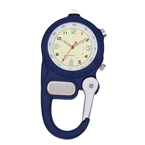 Baoblaze Reloj con Mosquetón para Médicos Y Enfermeras Unisex - Azul