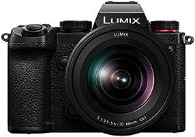 Panasonic LUMIX S5 Full Frame Mirrorless Camera, 4K 60P Video Recording with Flip Screen & WiFi, LUMIX S 20-60mm...