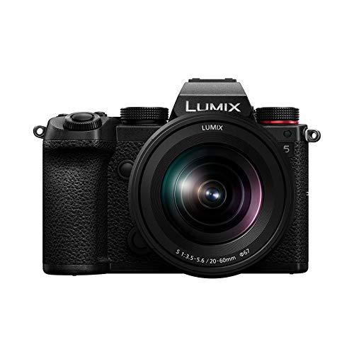 Panasonic LUMIX S5 Full Frame Mirrorless Camera, 4K 60P Video Recording with Flip Screen & WiFi, LUMIX S 20-60mm F3.5-5.6 Lens, L-Mount, 5-Axis Dual I.S, DC-S5KK (Black)
