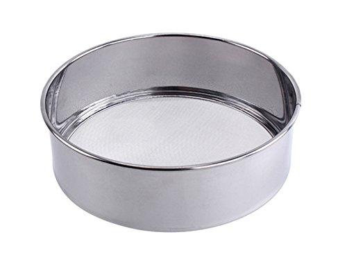 (15cm) - Tspkey Professional Round 18/8 Stainless Steel Flour Sieve with 60 Mesh (15cm)