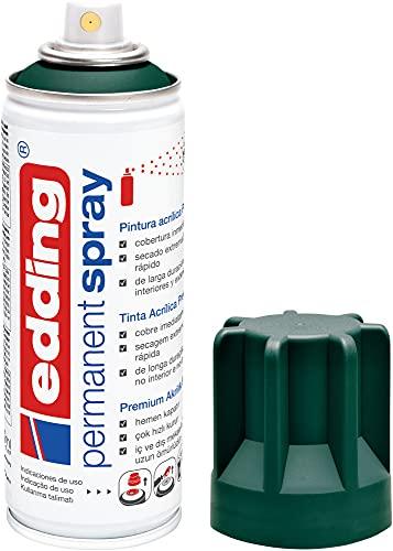 edding 5200-904 - Spray de pintura acrílica de 200 ml, secado rápido sin burbujas, color verde musgo mate