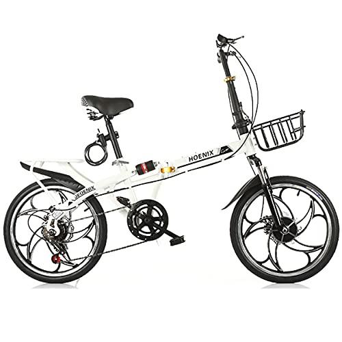 GGXX Bicicletas Carretera PequeñAs 16/20 Pulgadas Bicicleta Plegable para Hombres Y Mujeres Adultos, Velocidad Variable, Ultraligera Y PortáTil, Frenos De Disco con Doble AmortiguacióN