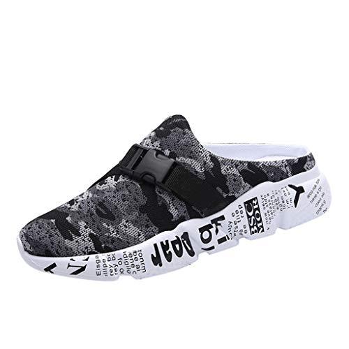 AIni Herren Schuhe 2019 Neuer Heißer Beiläufiges Mode Mesh Camouflage Slippers Leichte Wandersandalen für den Strand Freizeitschuhe Partyschuhe (40,Grau)