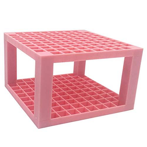 Organizador de lápices de material de pintura para artista, desmontable, de plástico, multifunción, para escritorio, 96 agujeros (rosa)