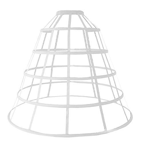 JHD Womens Hollow Out Caged 5-Hoop Bustle viktorianischen Petticoat Rock Hochzeit Brautkleid Cosplay Packtasche Krinoline Unterrock Slip