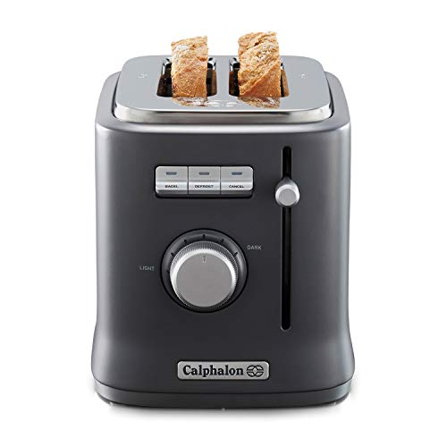 Calphalon 2084021 Intellicrisp 2 Slice Toaster, Black
