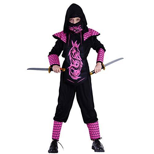 SEA HARE Kinder Mädchen Ninja Kostüm (L:10-12Jahre)