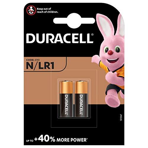 Duracell - Pilas especiales alcalinas N de 1.5 V, paquete