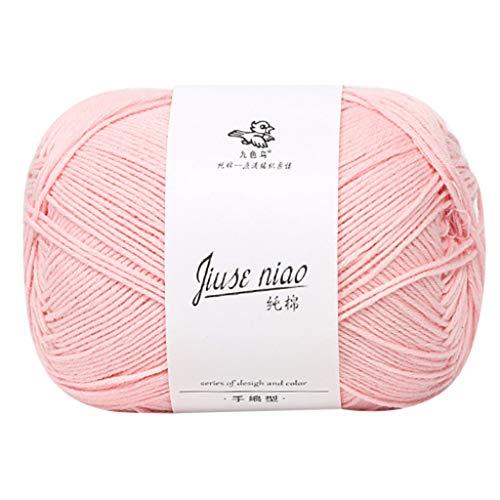 Lana para tejer de algodón – hilo de algodón de nueve colores, lana para tejer a mano, para...