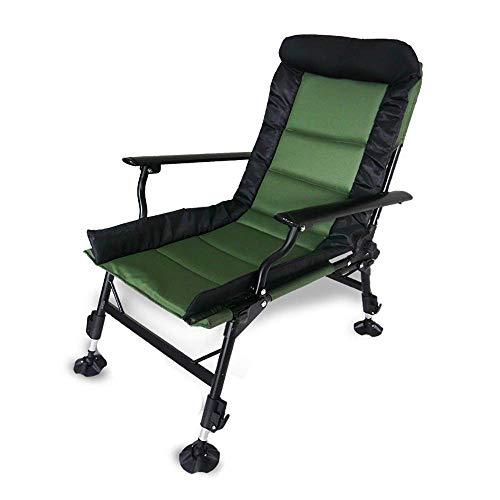 Opvouwbare Fishing Recliner Campingstoel Met Verstelbare hoogteRocker Houten Relax schommelstoel Lounge Chair Recliners Zero Gravity